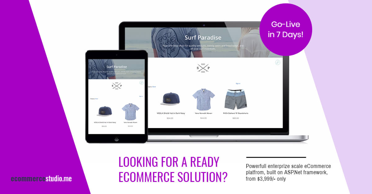 Go Live in 7 Days with a ready eCommerce platform